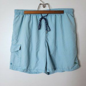 Tommy Bahama Relax Blue Swim Shorts Trunks Lined L